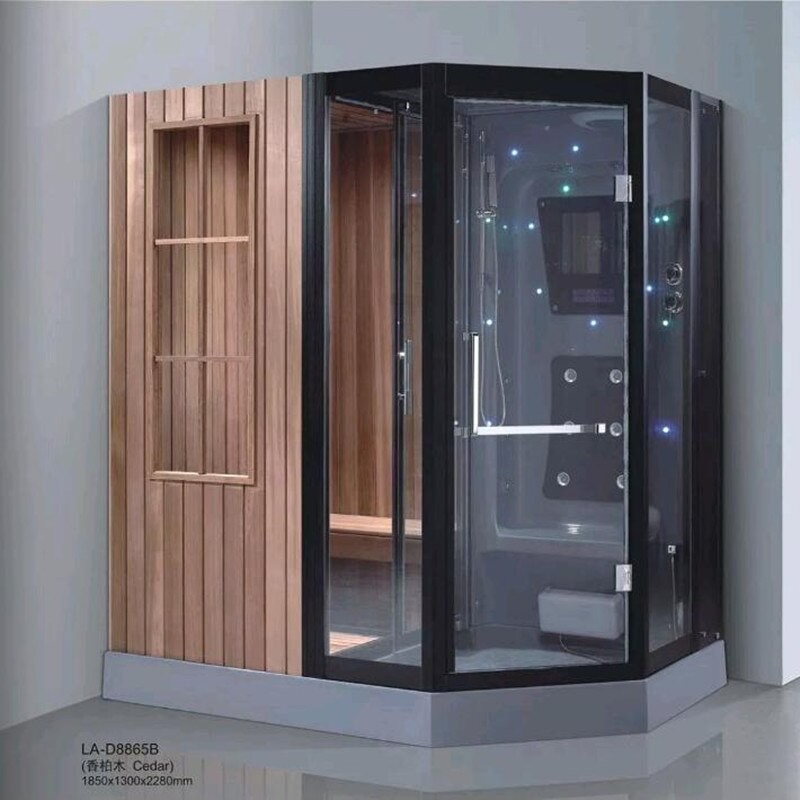 Packages mailed home multi-function wet steam room and sauna shower one-piece amphibious sauna shower room steam room khan steam