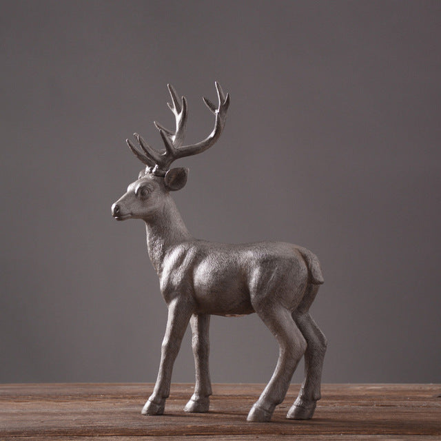retro resin elk American village style home furnishing dcor craft Nordic vintage hand made Bionic deer luxury home ornament