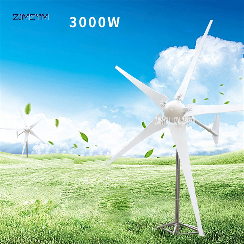 3000W Wind Power Generator Turbine is with 5 Blades and Controller Land and Marine