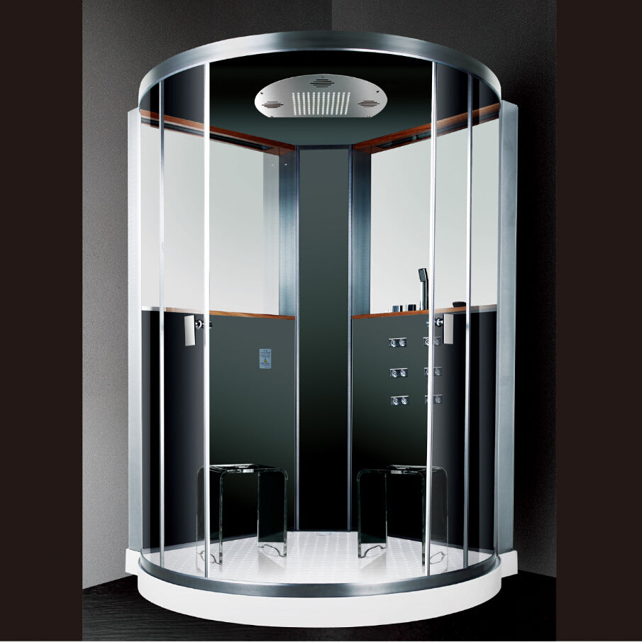 2017 luxury steam shower cabins jetted massage walking-in sauna