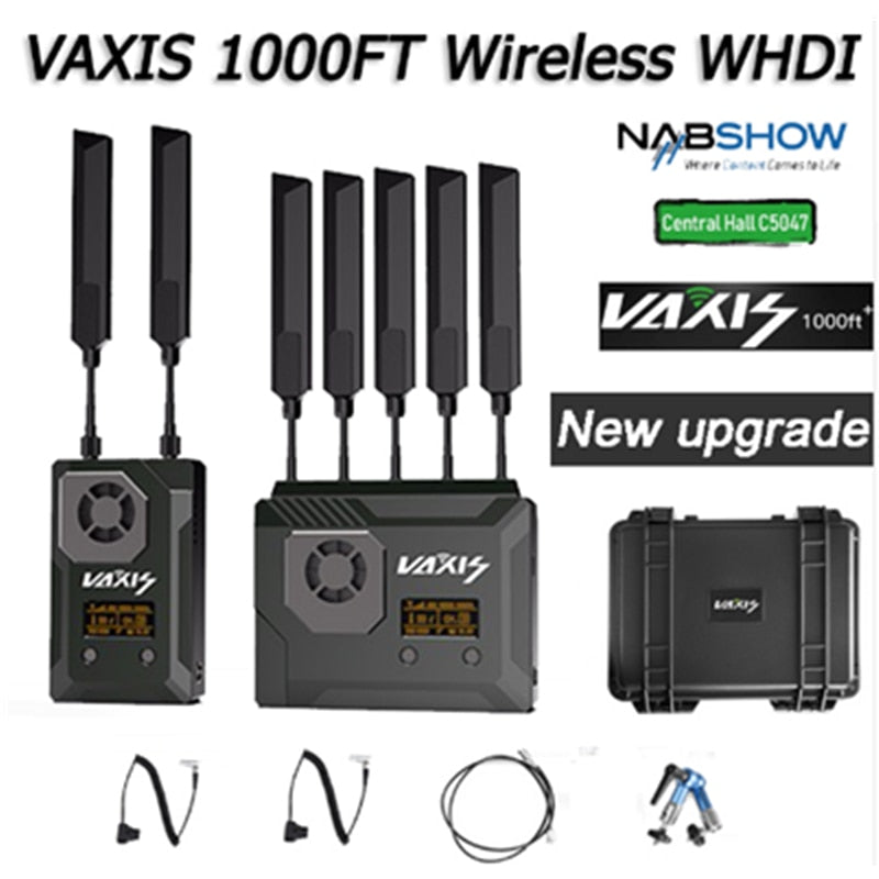 VAXIS STORM 1000FT+ Wireless Video Transmission System 3G-SDI HDMI Broadcast FILM Transmitter&Receiver for RED ARRI NEW VERSION
