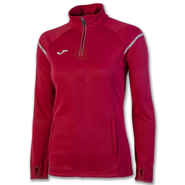 Joma Felpa Zipper Race Red Woman