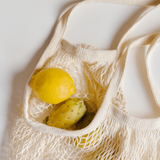 lemons in reusable shopping bag