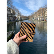 Not Just a Traveler's Wallet Tiger Hair Calf - HYER GOODS- sustainable leather - designed by Dana Cohen in Brooklyn New York