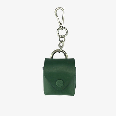 Leather AirPod Case Cover + Keychain, Forest Green - HYER GOODS
