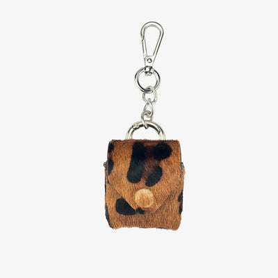 Leather AirPod Case Cover + Keychain, Leopard - HYER GOODS