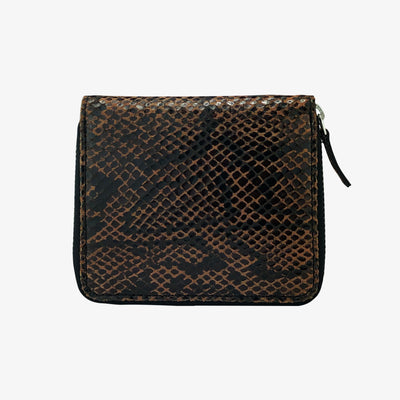 Zip Wallet Printed Amber Python,Zip Wallet - HYER GOODS- recycled leather sustainable fashion accessory perfect for the zero waste lifestyle