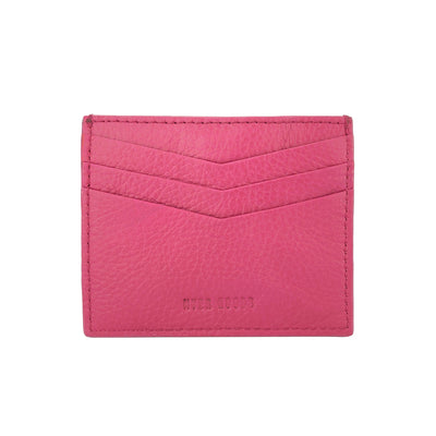 Not Just A Card Wallet Fuschia - HYER GOODS- sustainable leather - designed by Dana Cohen in Brooklyn New York