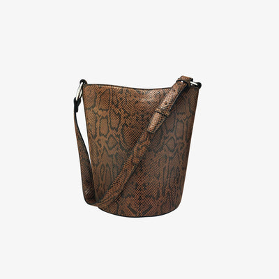 Bucket Bag Amber Python - HYER GOODS- sustainable leather - designed by Dana Cohen in Brooklyn New York