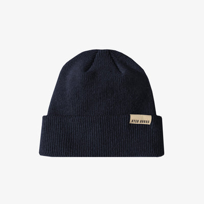 A BETTER BEANIE- DEEP NAVY,Beanie - HYER GOODS- recycled leather sustainable fashion accessory perfect for the zero waste lifestyle