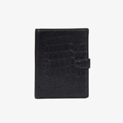 Not Just a Traveler's Wallet Black Croc - HYER GOODS
