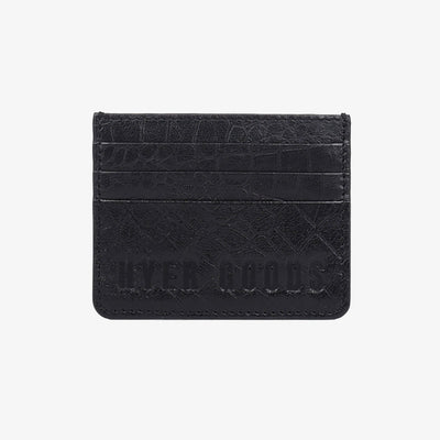 Card Wallet Black Croc - HYER GOODS