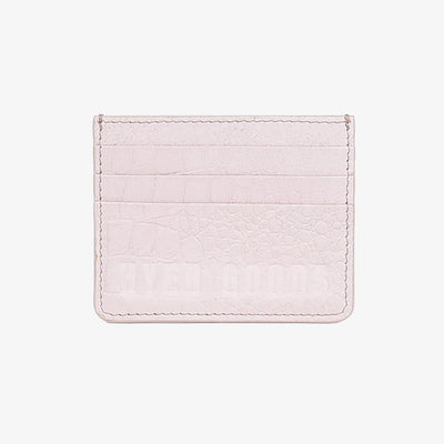 Card Wallet Almost Pink Croc - HYER GOODS