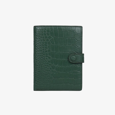 Not Just a Traveler's Wallet Green Croc - HYER GOODS