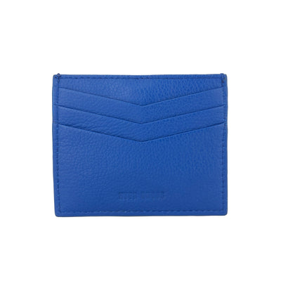 Not Just A Card Wallet Electric Blue - HYER GOODS- sustainable leather - designed by Dana Cohen in Brooklyn New York