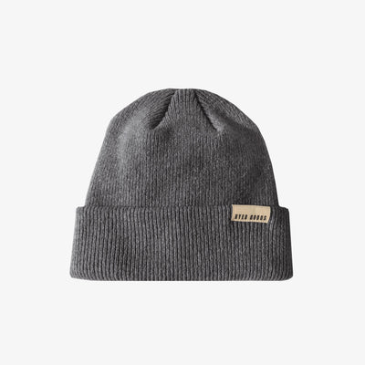 A BETTER BEANIE- HEATHER GREY,Beanie - HYER GOODS- recycled leather sustainable fashion accessory perfect for the zero waste lifestyle