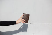 Not Just a Traveler's Wallet Black - HYER GOODS- sustainable leather - designed by Dana Cohen in Brooklyn New York