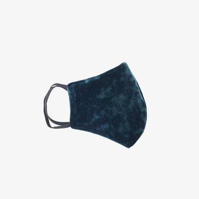 MORGAN'S LUX VELVET MASKS- TEAL,Mask - HYER GOODS- recycled leather sustainable fashion accessory perfect for the zero waste lifestyle