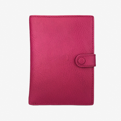 Not Just a Traveler's Wallet Fuschia - HYER GOODS- sustainable leather - designed by Dana Cohen in Brooklyn New York