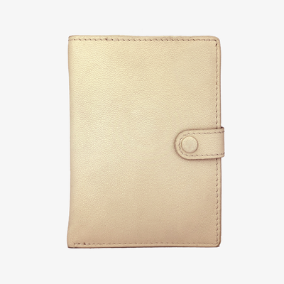 Not Just a Traveler's Wallet Bone,Passport Wallet - HYER GOODS- recycled leather sustainable fashion accessory perfect for the zero waste lifestyle