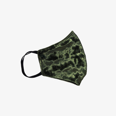 MORGAN'S LUX VELVET MASKS- GREEN OLIVE - HYER GOODS