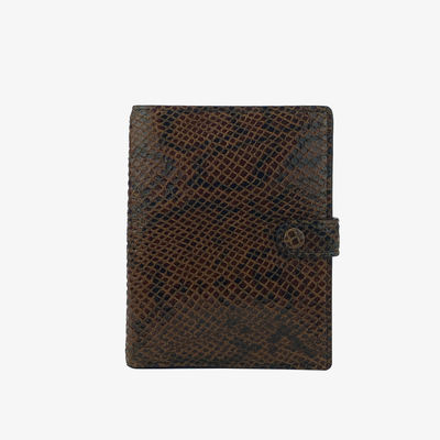 Not Just a Traveler's Wallet Amber Python - HYER GOODS- sustainable leather - designed by Dana Cohen in Brooklyn New York