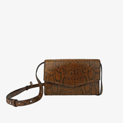 4-in-1 Envelope Convertible Crossbody Purse Amber Python,Convertible Purse - HYER GOODS- recycled leather sustainable fashion accessory perfect for the zero waste lifestyle