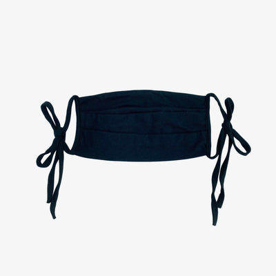 BUY 1 GIVE 1 MASK- BLACK - HYER GOODS- sustainable leather - designed by Dana Cohen in Brooklyn New York