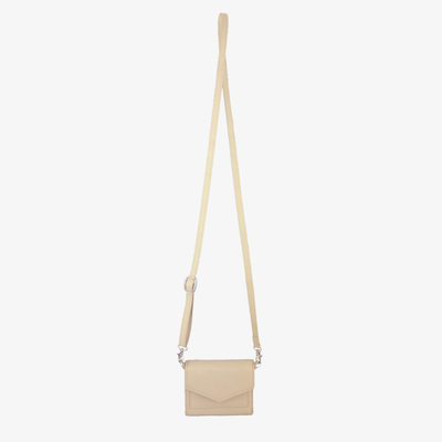 Mini Convertible Crossbody Bone,Mini Convertible X Body - HYER GOODS- recycled leather sustainable fashion accessory perfect for the zero waste lifestyle