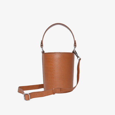 Mini Bucket Bag Tan Croc - HYER GOODS