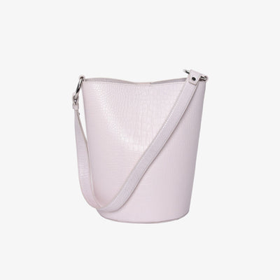 Bucket Bag Lt Pink Croc - HYER GOODS