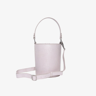 Mini Bucket Bag Light Pink Croc - HYER GOODS
