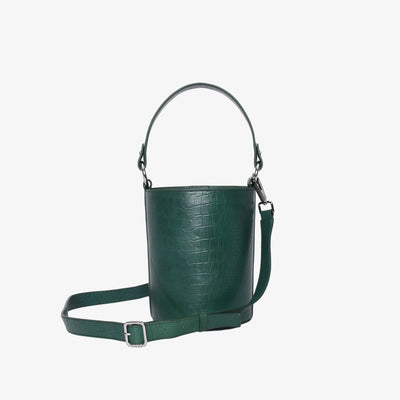 Mini Bucket Bag Green Croc - HYER GOODS