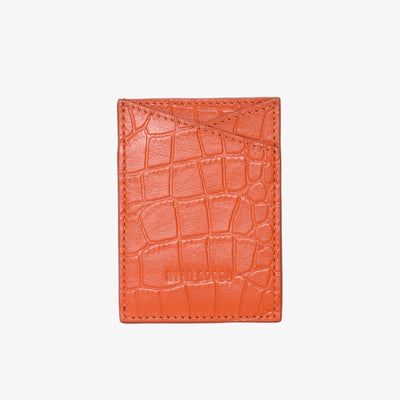 Leather Sticker Phone Wallet Flame Croc - HYER GOODS