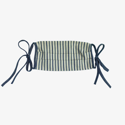 BUY 1 GIVE 1 MASK- INDIGO STRIPE,Mask - HYER GOODS- recycled leather sustainable fashion accessory perfect for the zero waste lifestyle