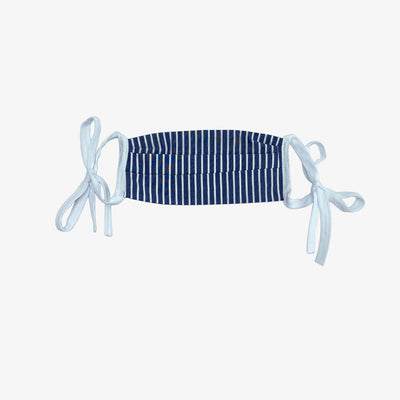 BUY 1 GIVE 1 MASK- NAVY PINSTRIPE FOR KIDS,Mask - HYER GOODS- recycled leather sustainable fashion accessory perfect for the zero waste lifestyle