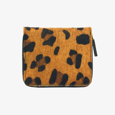 Zip Wallet Leopard Hair Calf - HYER GOODS