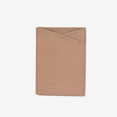 Leather Sticker Phone Wallet Dusty Rose - HYER GOODS- sustainable leather - designed by Dana Cohen in Brooklyn New York