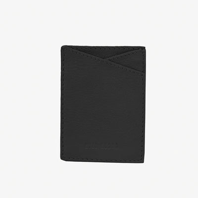 Leather Sticker Phone Wallet Black - HYER GOODS