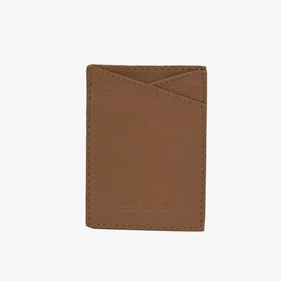 Leather Sticker Phone Wallet Tan - HYER GOODS