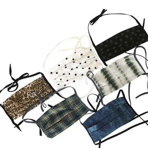 BUY 1 GIVE 1 MASK- PRINT PACK - HYER GOODS- sustainable leather - designed by Dana Cohen in Brooklyn New York