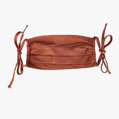 BUY 1 GIVE 1 MASK- RUST,Mask - HYER GOODS- recycled leather sustainable fashion accessory perfect for the zero waste lifestyle