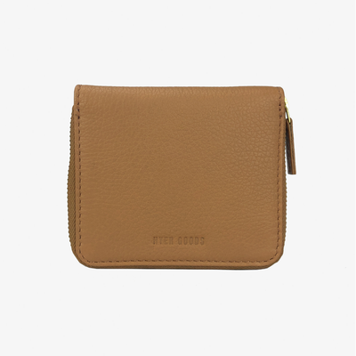 Zip Wallet Beige - HYER GOODS- sustainable leather - designed by Dana Cohen in Brooklyn New York