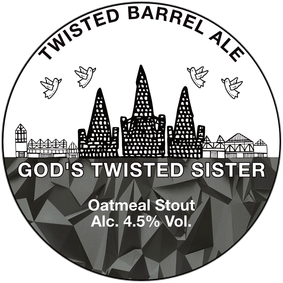 God's Twisted Sister - 4.5% Oatmeal Stout