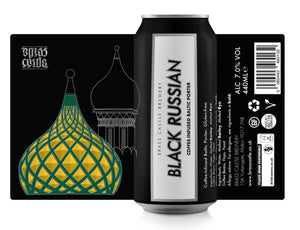 Brass Castle Black Russian 7.0% GF Coffee Porter - 440ml Can