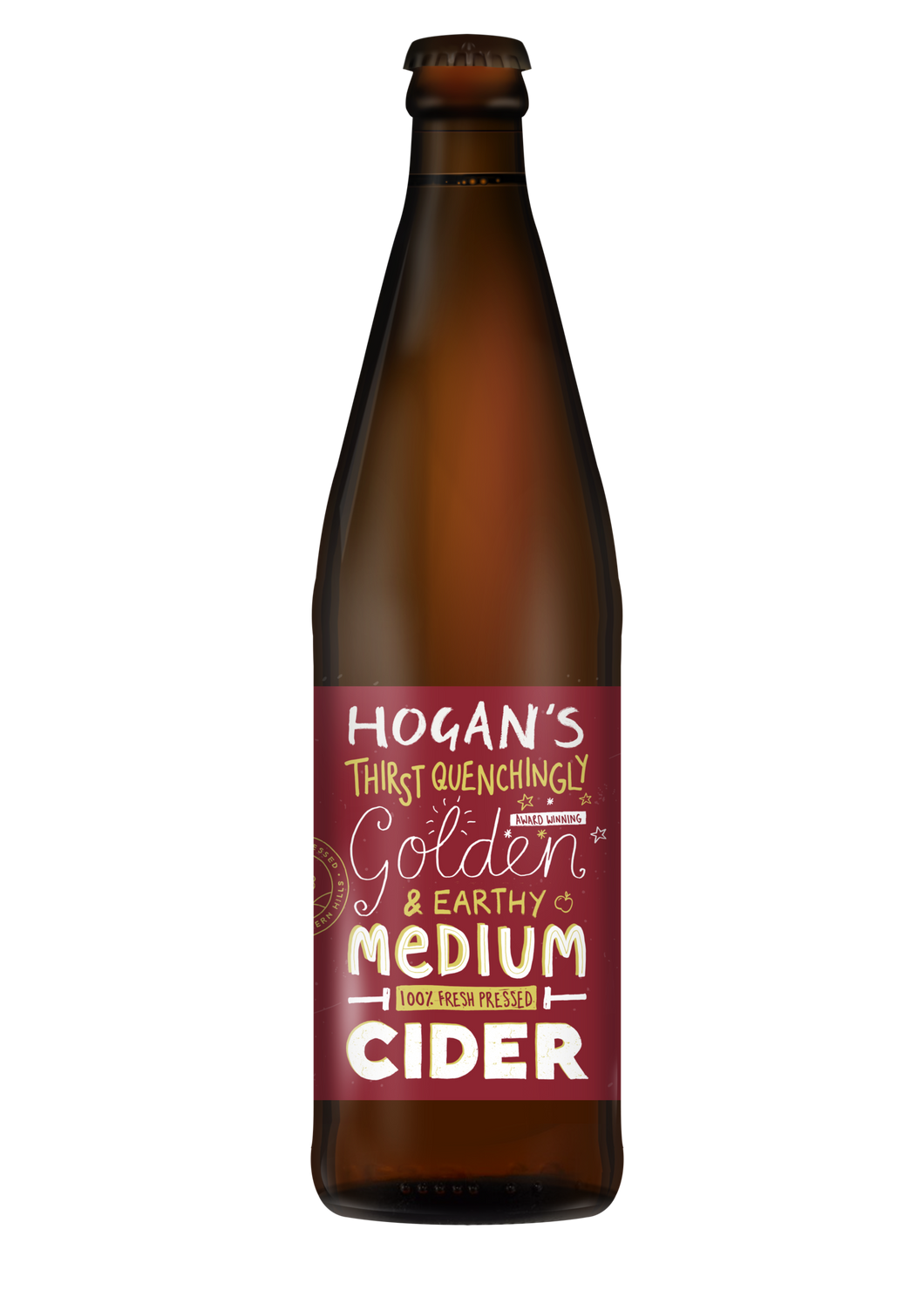 Hogan's Medium Cider 5.4% - 500ml Bottle
