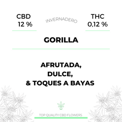 Gorilla 12% CBD HOUSE Madrid