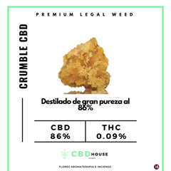 Crumble CBD HOUSE Madrid ( CBD Destilado )