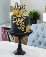 Black & Gold Elegant Temptations Bakery