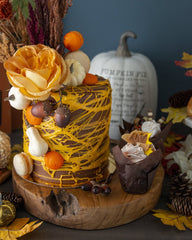 Fall Cake Elegant Temptations Bakery